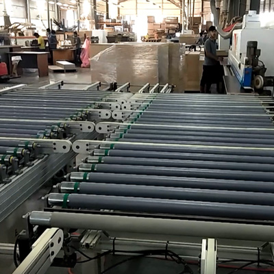 L & R edge banding line for long end  board