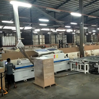 L & R edge banding line with full loading