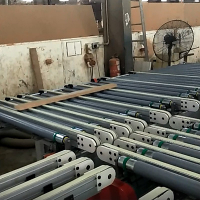 L & R edge banding line for short end  board